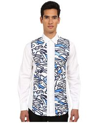 DSquared2 Pool Printed Nylon Front Button Up - Lyst