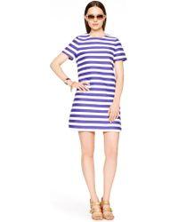 Kate Spade Yarn Dyed Stripe Shift Dress - Lyst