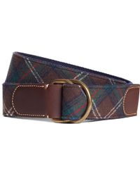 Brooks Brothers Pendleton Plaid Dring Belt - Lyst