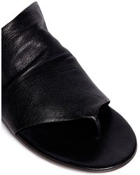 Marsèll - Leather Thong Sandals - Lyst