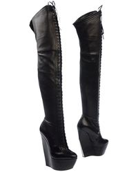 Casadei Black Boots - Lyst