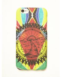 Free People Abstract Rubber Iphone 5/6 Case - Multicolor