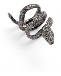 Alexis Bittar - 'wrapping Serpent' Cocktail Ring - Gunmetal - Lyst