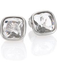 Michael Kors Brilliance Botanicals Cushion Stud Earrings/Silvertone silver - Lyst