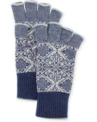 Brora - Nordic Fingerless Gloves - Lyst