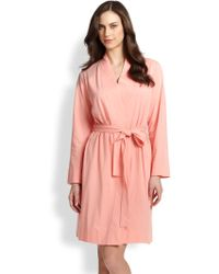 Cottonista Cotton Jersey Short Robe - Lyst