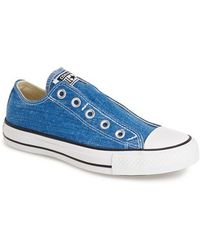 Converse Chuck Taylor All Star 'Washed' Slip-On blue - Lyst