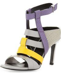 Prabal Gurung | Georgia Colorblock Leather Sandal | Lyst