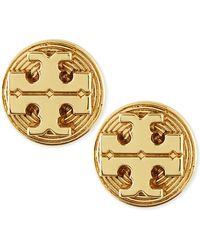 Tory Burch Golden Livia Stud Earrings - Lyst