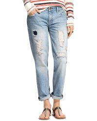 Tommy Hilfiger Rip and Repair Boyfriend Jeans - Lyst
