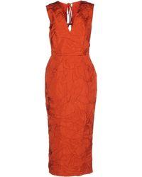 Rochas 3/4 Length Dress - Lyst