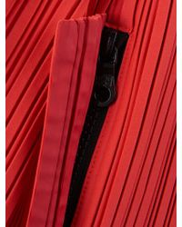 Pleats Please Issey Miyake Pleated Drawstring Backpack - Red