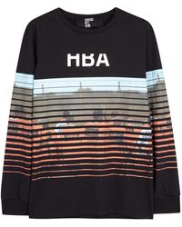 Hood By Air Prison Mask Black Printed Cotton Top