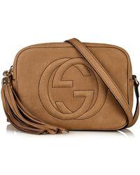Gucci Soho Leather Cross-body Bag - Lyst