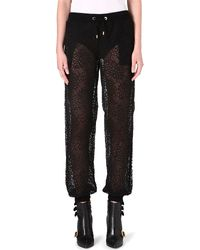 Moschino Floral Lace Trousers 555 - Lyst