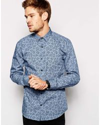 Selected Ditsy Floral Print in Slim Fit - Lyst