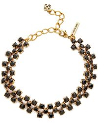 Oscar de la Renta Checkered Crystal Choker - Black - Lyst