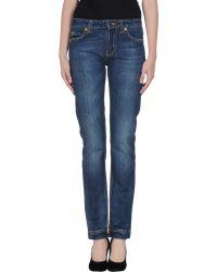 Frankie Morello Denim Trousers blue - Lyst