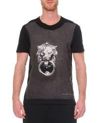 Alexander McQueen Crewneck Graphic Print T-Shirt - Lyst