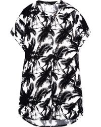 Mikoh Swimwear Cannes Printed Jersey Coverup - Lyst