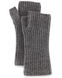 Rag & Bone Alexis Cashmere Fingerless Gloves - Gray