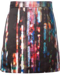 McQ by Alexander McQueen Blurry Lights Print Skirt - Lyst