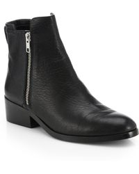 3.1 Phillip Lim Alexa Leather Double-Zip Ankle Boots - Lyst