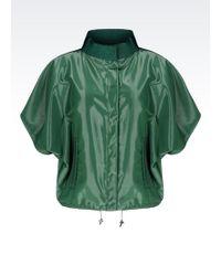 Emporio Armani Pea Coat In Organza - Lyst