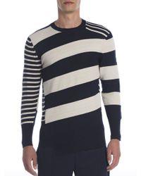 Alexander McQueen   Mixed Stripe Wool Sweater   Lyst