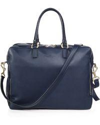 Ferragamo Berlino 24-Hour Leather Double-Zip Duffle Bag blue - Lyst