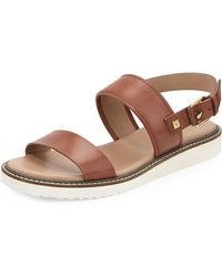 Cole Haan Capri Leather Double-Strap Sandal - Lyst