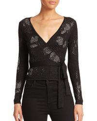 Diane von Furstenberg | Embellished Ballerina Wrap Sweater | Lyst