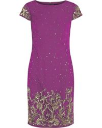 Notte By Marchesa Embellished Satin and Tulle Mini Dress - Lyst