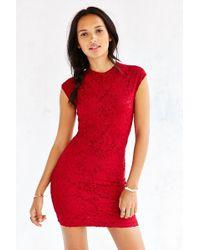 Kimchi Blue Seamed Lace Bodycon Dress - Lyst