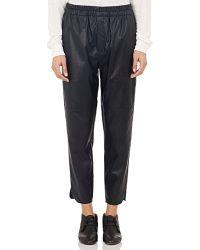 Etoile Isabel Marant Faux Leather Jan Crop Pants black - Lyst