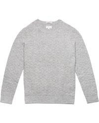 Gant Rugger | Light Grey Melange Basket Weave Sweater | Lyst