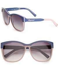DSquared2 Geometric Acetate Sunglassesblue Pink - Lyst
