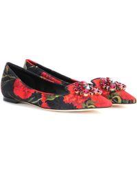 Dolce & Gabbana Bellucci Brocade Ballerinas - Lyst