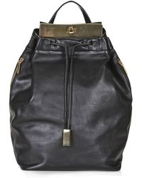 Topshop Premium Leather Plated Backpack  Black - Lyst