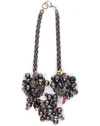 Subversive Jewelry - Brown Pearls Couture Necklace - Lyst