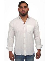 Giorgio Bellini - Ponza Linen Blend Button Front Shirt - Lyst