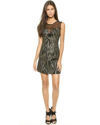 Milly Lena Dress - Gold - Lyst