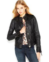 Lucky Brand Lucky Brand Joyride Leather Moto Jacket - Black