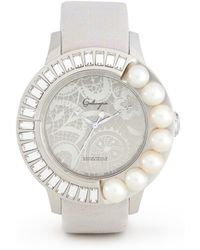 Galtiscopio 'amour Perle' Pearl And Crystal Lace Dial Watch - Metallic