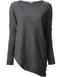 Isola Marras Asymmetric Paneled Sweater - Gray