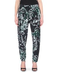 Vivienne Westwood Anglomania Realm Tapered Crepe Trousers - Lyst