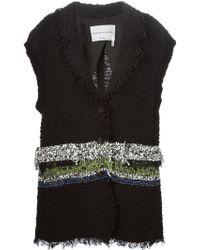 Sonia Rykiel Ribbed-Detail Tweed Jacket - Lyst