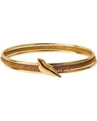 Diane von Furstenberg Thea Goldtone Lip Bangle Bracelet Set - Lyst
