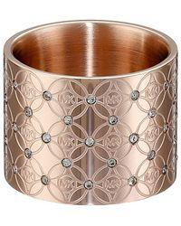 Michael Kors Mk Monogram Pave Ring pink - Lyst