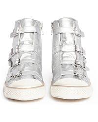 Ash 'Virgin' Metallic Leather High Top Sneakers - Lyst